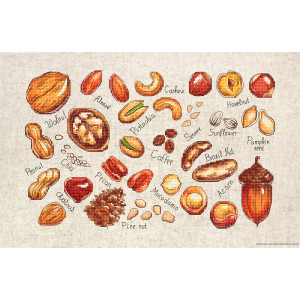"""Luca-S counted Cross Stitch kit """"Nuts and..."""