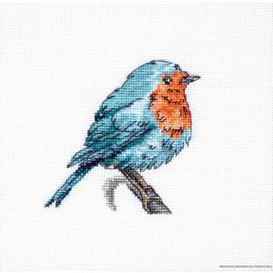 """Luca-S Kreuzstich Set """"Blauer Vogel"""",..."""