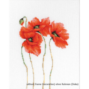 """Luca-S counted Cross Stitch kit """"Poppies II"""",..."""