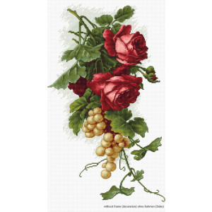 """Luca-S counted Cross Stitch kit """"Red roses and..."""
