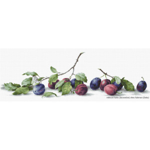 """Luca-S counted Cross Stitch kit """"Plums"""",..."""