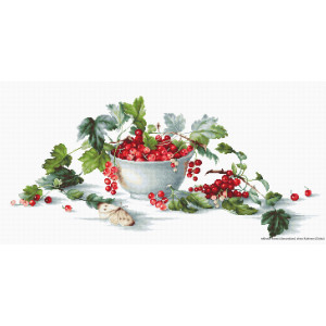 """Luca-S counted Cross Stitch kit """"Red Currants..."""