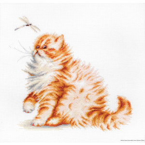 """Luca-S counted Cross Stitch kit """"Kitten with a..."""