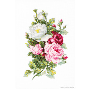 """Luca-S counted Cross Stitch kit """"Bouquet of..."""