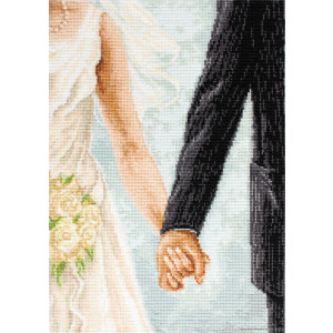 """Luca-S counted Cross Stitch kit """"Wedding """",..."""