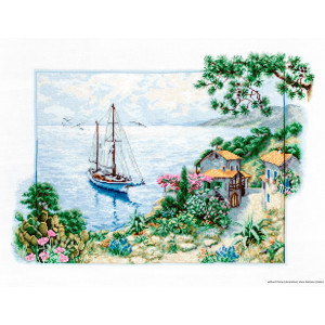 """Luca-S counted Cross Stitch kit """"Seascape"""",..."""