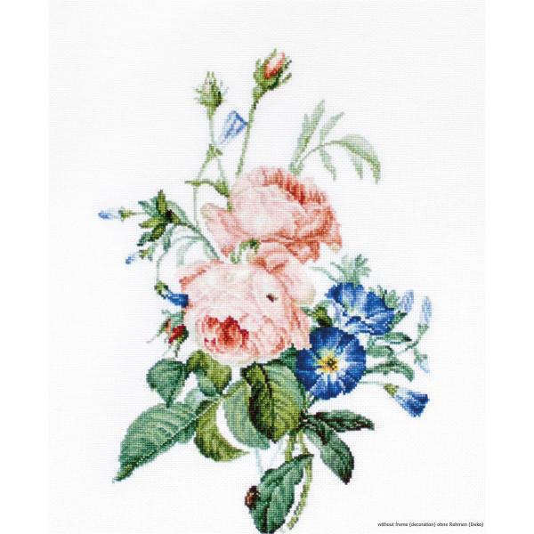 "Luca-S counted Cross Stitch kit /""Flower Garden/"" DIY 42x28cm"