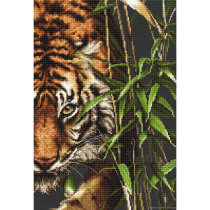 """Luca-S counted Cross Stitch kit """"The Tiger"""",..."""
