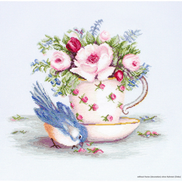 Counted Cross Stitch Kit Luca-S Birds in nest