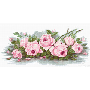 """Luca-S counted Cross Stitch kit """"Romantic Roses..."""