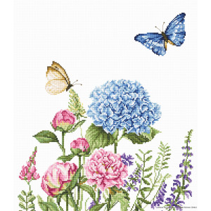 """Luca-S counted Cross Stitch kit """"Summer Flowers and..."""