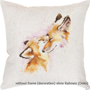 Luca-S counted Cross Stitch kit Pillow with pillow back...