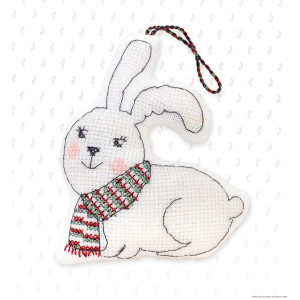 """Luca-S counted Cross Stitch kit Toy """"Rabbit with a..."""