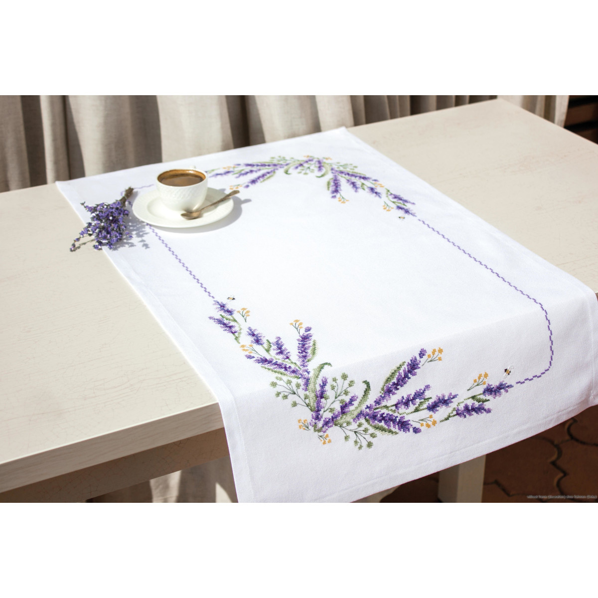 Cross Stitch Kit Luca-S  FM003 Table Runner 76x46 cm Embroidery Size 66x36 cm