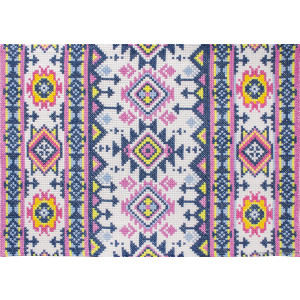"""Luca-S counted Cross Stitch kit rug """"Inca"""",..."""