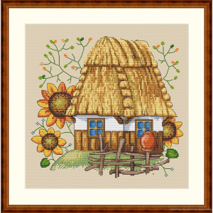 """Merejka counted Cross Stitch kit """"The House"""" DIY"""
