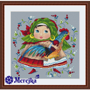 """Merejka counted Cross Stitch kit """"The Rooster"""" DIY"""