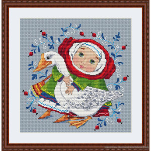 """Merejka counted Cross Stitch kit """"The Goose"""" DIY"""