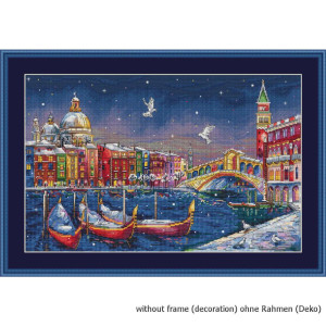 """Merejka counted Cross Stitch kit /""""Our Special Place in Venice/"""" DIY"""