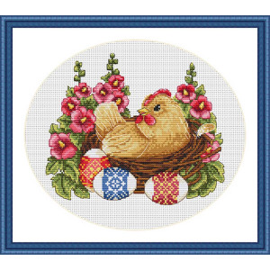 """Merejka counted Cross Stitch kit """"Happy Easter""""..."""