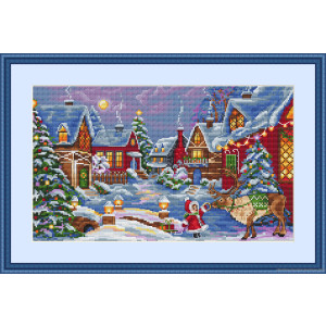 """Merejka counted Cross Stitch kit """"The Christmas..."""