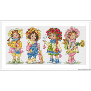 """Merejka counted Cross Stitch kit """"Sisters"""" DIY"""