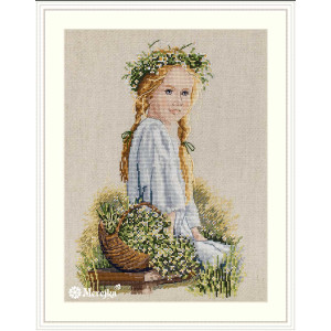 """Merejka counted Cross Stitch kit """"Daisies evenweave..."""