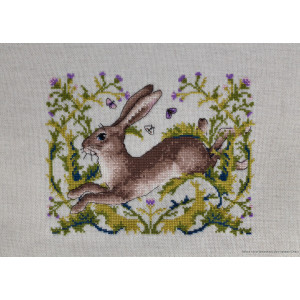 """Merejka counted Cross Stitch kit """"The Hare evenweave..."""