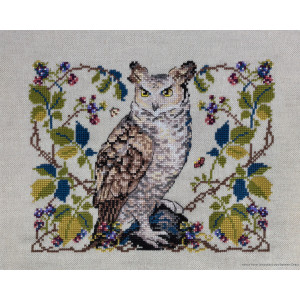 """Merejka counted Cross Stitch kit """"The Owl evenweave..."""