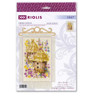 """Riolis counted cross stitch kit """"Cottage Garden...."""
