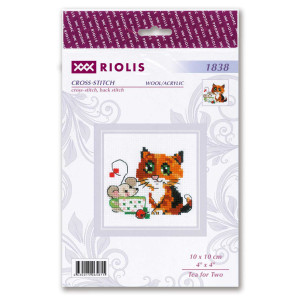 """Riolis counted cross stitch kit """"Tea for..."""