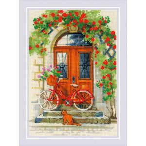 """Riolis Kreuzstich-Set """"Italienische Tür"""",..."""