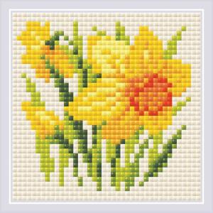 "Riolis Diamond Painting ""Yellow Narcissus"",..."
