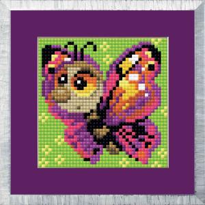 "Riolis Diamond Painting ""Butterfly"", 10x10cm"