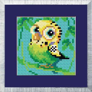 """Riolis Diamond Painting """"Parakeet"""", 10x10cm"""