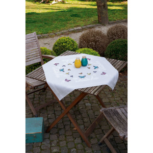 Vervaco Tablecloth kit Butterfly dance, stamped, DIY