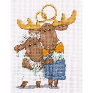 """Klart counted cross stitch kit """"Lots of love today..."""