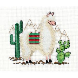"""Klart counted cross stitch kit """"Llama""""..."""