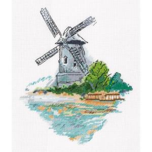 "Klart counted cross stitch kit ""Windmill on the..."