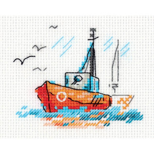 """Klart counted cross stitch kit """"Sketches. On Waves..."""