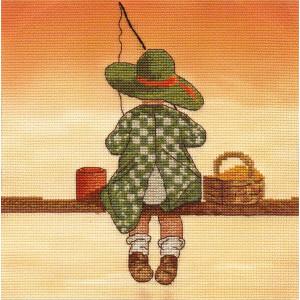 """Panna counted cross stitch kit """"Fishing""""..."""