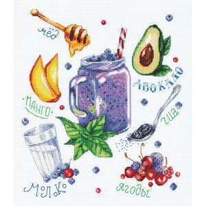 """Panna counted cross stitch kit """"Berry Smoothie""""..."""