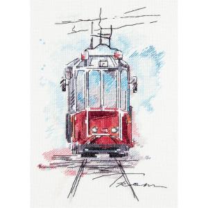 """Panna Kreuzstichset """"Stadtbahn"""" 17x25cm,..."""