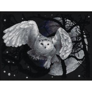 "Panna counted cross stitch kit ""White Owl""..."