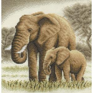 """Panna Kreuzstichset """"Elefanten"""" 19x20cm,..."""