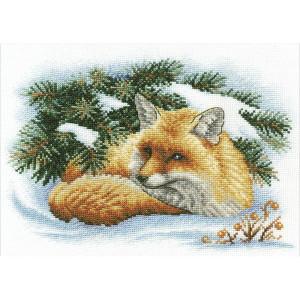 "Panna counted cross stitch kit ""Little Fox""..."