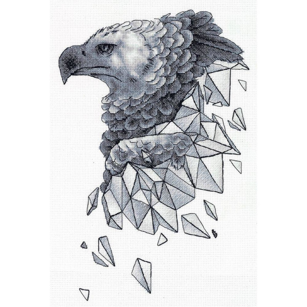 Panna counted cross stitch kit Geometry. Eagle 23.5x33.5cm, DIY