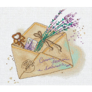 """Panna counted cross stitch kit """"Letter""""..."""