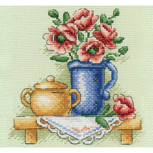 """Panna counted cross stitch kit """"Flowers in a..."""