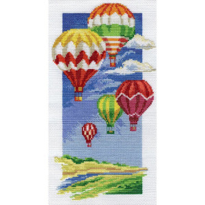 """Panna Kreuzstichset """"Luftballons"""" 16.5x30cm,..."""